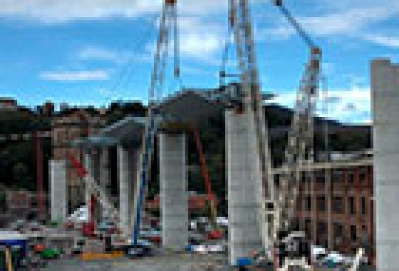 Строительство нового моста в Генуе (замена обрушенного моста Моранди) с применением новейших технологий консорциума Per Genova